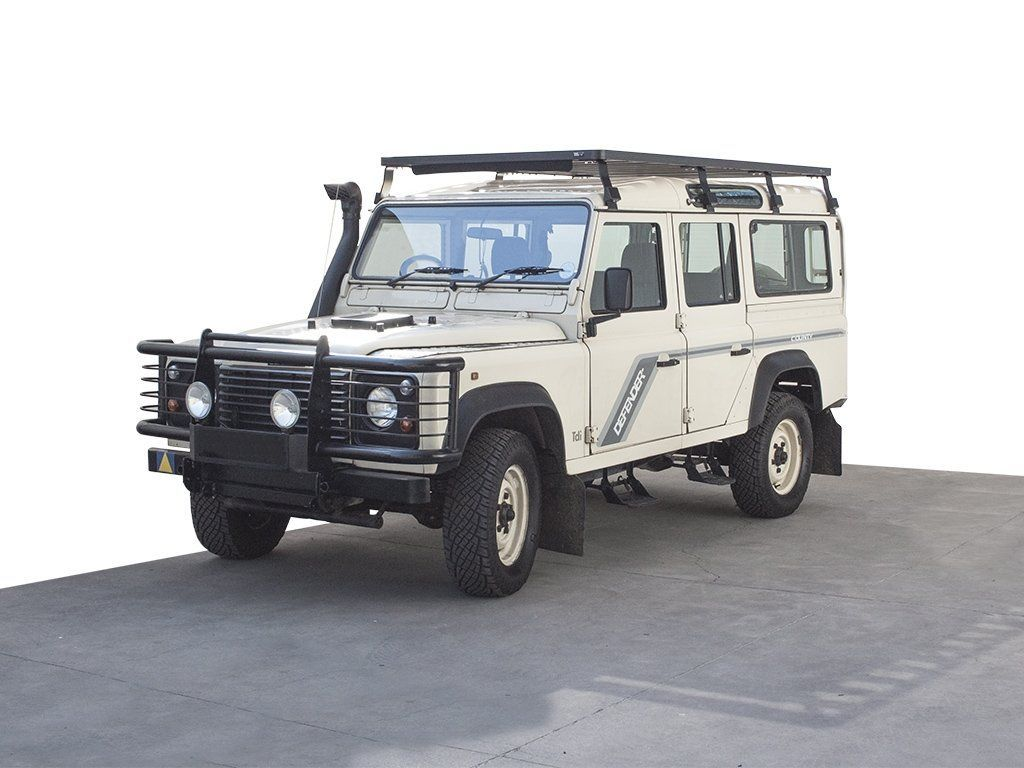 front view of Slimline II Roof Rack Kit/Tall For Land Rover DEFENDER 110 - by Front Runner Outfitters