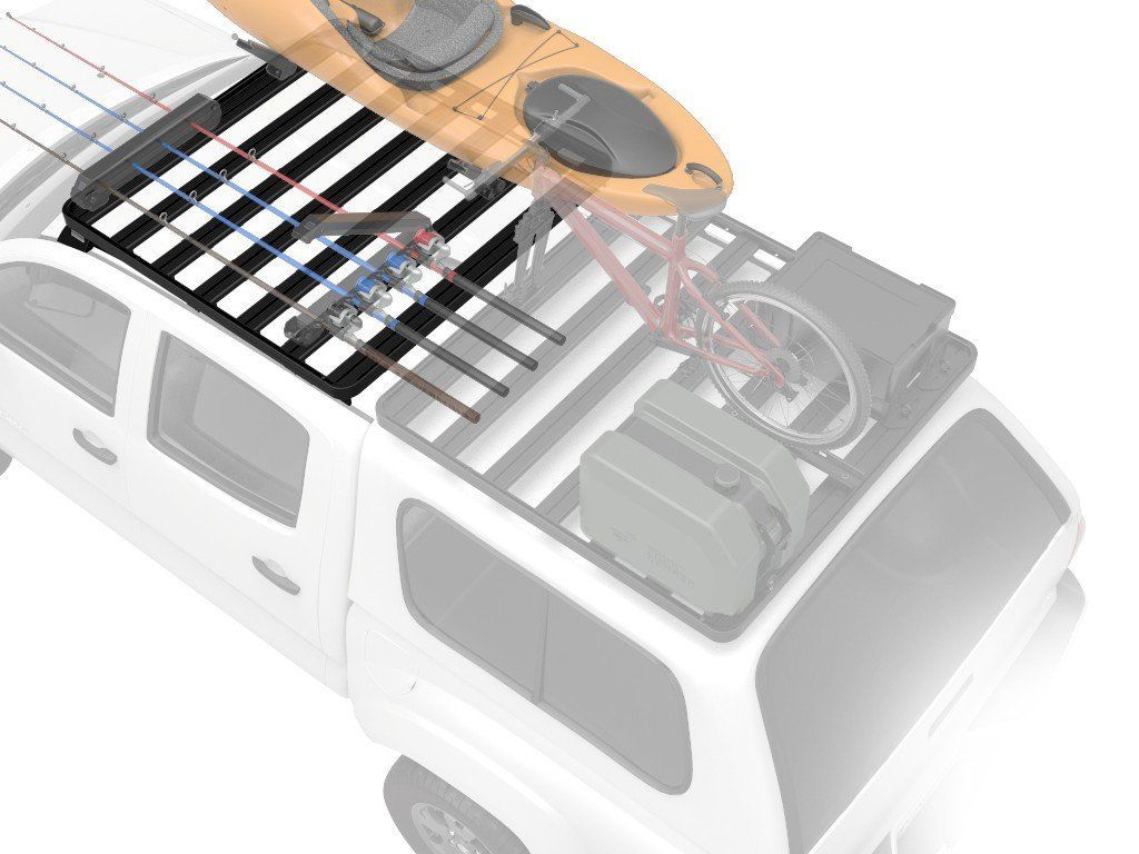 Slimline II Roof Rack Kit For Land Rover DEFENDER Pick-Up Truck - by Front Runner Outfitters