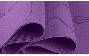 YOGA MAT WITH POSITION LINE - Life Health Love