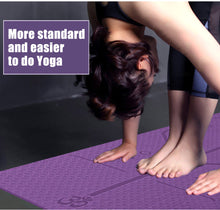 Load image into Gallery viewer, YOGA MAT WITH POSITION LINE - Life Health Love