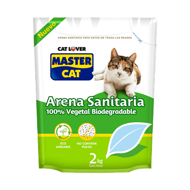Arena Master Cat Sanitaria Biodegradable 2 KG