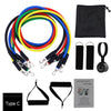11pcs/set Pull Rope Fitness Resistance Bands