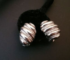 Vintage Earrings Small Silver Tone Ear Hugger Clip