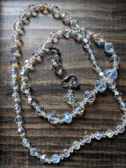 Vintage Necklace & Earring Set Auroa Borealis 26