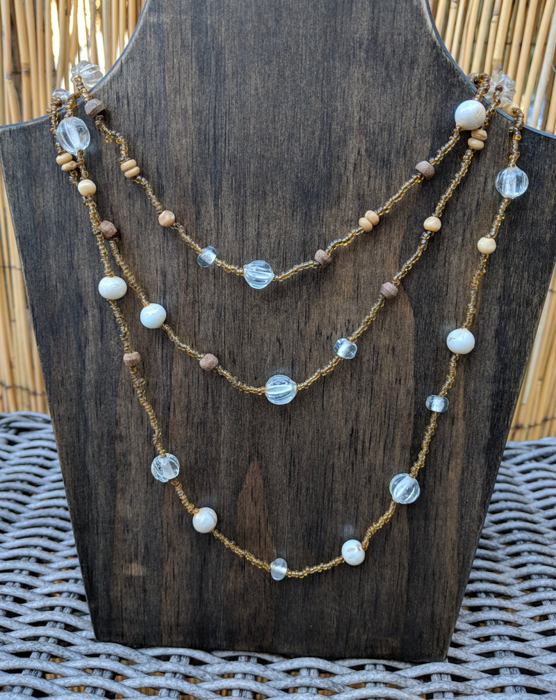 Beaded Necklace - Earth Tones