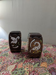 Vintage Brayton Laguna Brown Ceramic Pottery Salt & Pepper Shakers