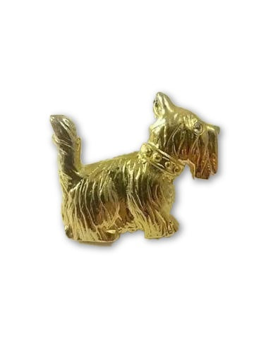 Vintage AAI Brooch Pin Scotty Dog Scottish Terrier