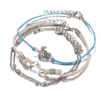 Turtle Dolphin Beach Vibe Anklet Set