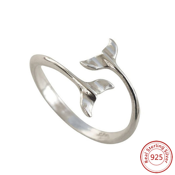 925 Silver Whale Tail Ring