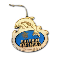 Dolphin Wooden Medallion Pledge