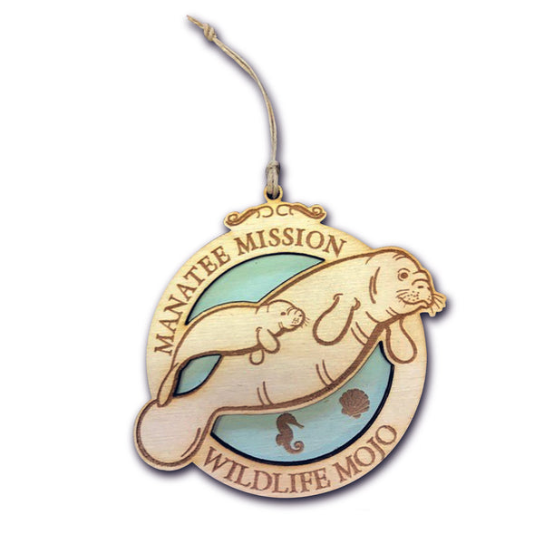 Manatee Wooden Medallion Pledge