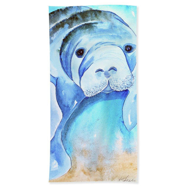 Miles Manatee - Beach Towel