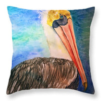 Pablo Pelican - Throw Pillow