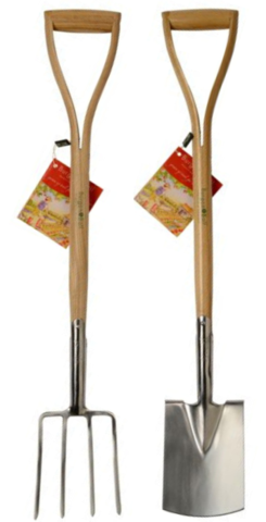 Children's Stainless Steel Spade & Fork Set