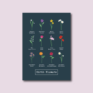 Long Match Box with 'Birth Flower' design and the year of birth for each child