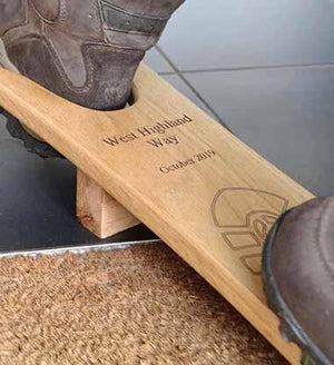 Oak Boot Jack - with your engraved message (text only)