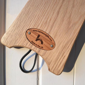 Oak Boot Jack - with your engraved message plus list of all the 'Wainwrights'