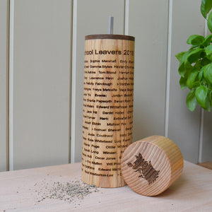 Salt & Pepper Mill - with all over personalised engraving