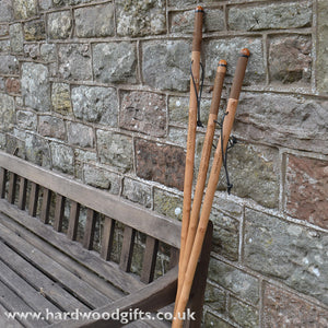 Sweet Chestnut Walking Stick - with your engraved message (text only)
