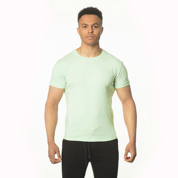 WeekendGent Slim stretch crew tshirt mint green