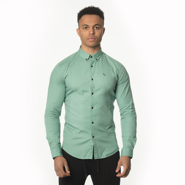 WeekendGent Slim stretch BD shirt canton green