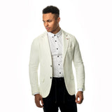 WeekendGent Slim stretch blazer white