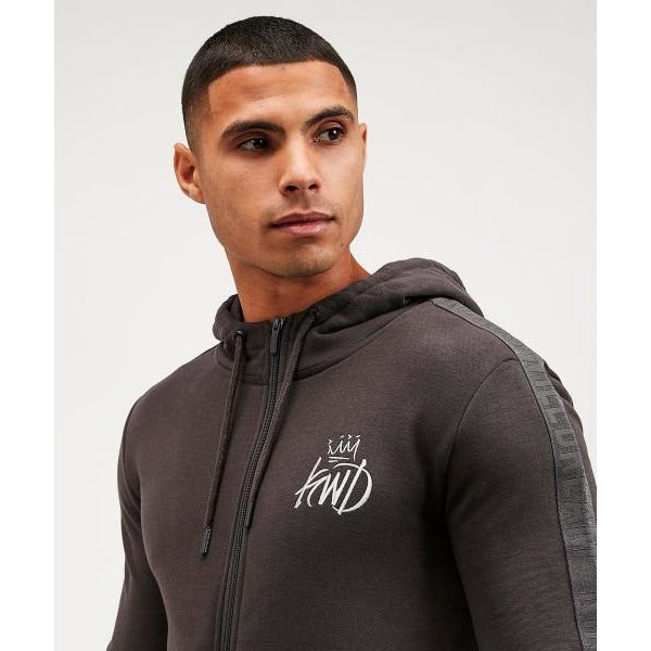 Kings Will Dream Crossly Zip Hoodie Charcoal at TailorOfBlue.ie