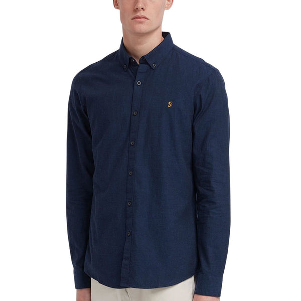 Farah Steen Slim Fit BD Shirt True Blue at TailorOfBlue.ie