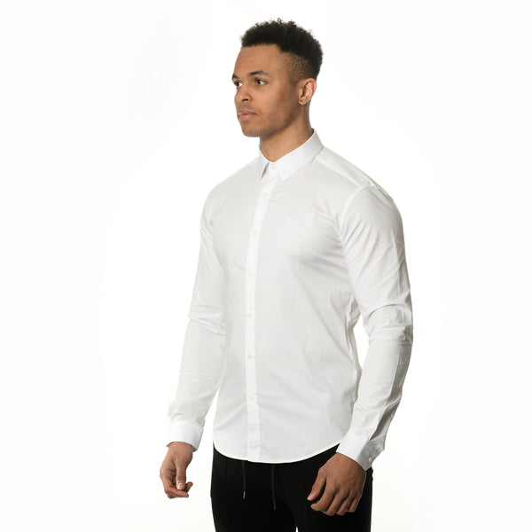 WeekendGent Slim stretch classic white shirt