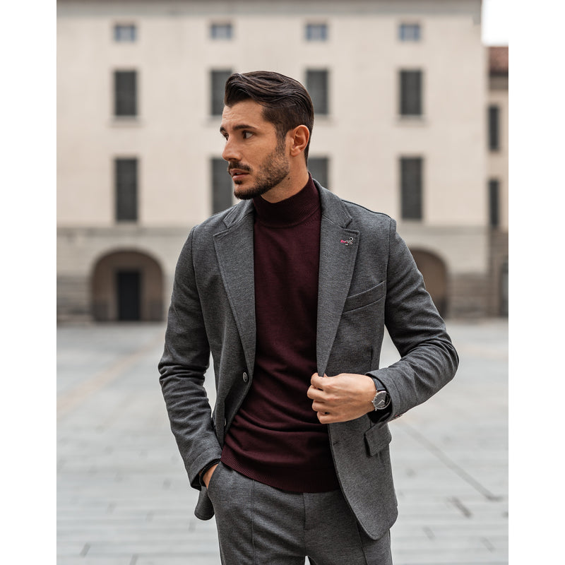 WeekendGent Turtle-neck knit bordeaux