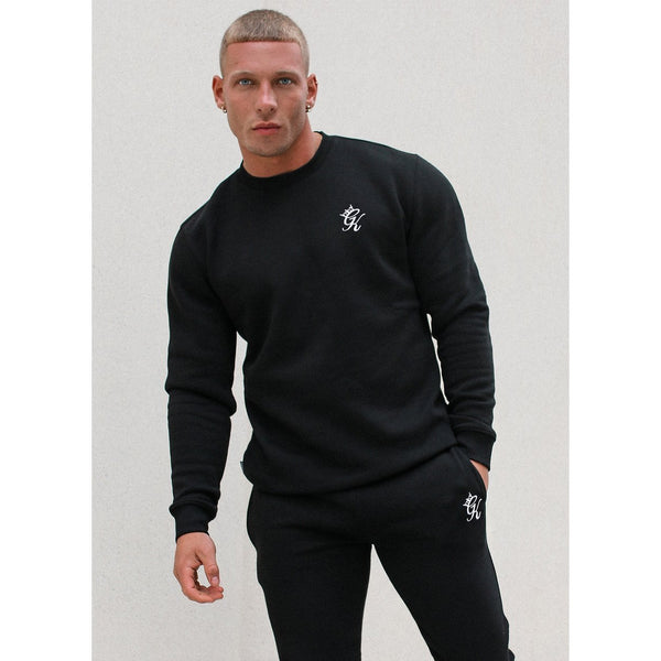 Gym King Basis Crew Sweatshirt Black at TailorOfBlue.ie