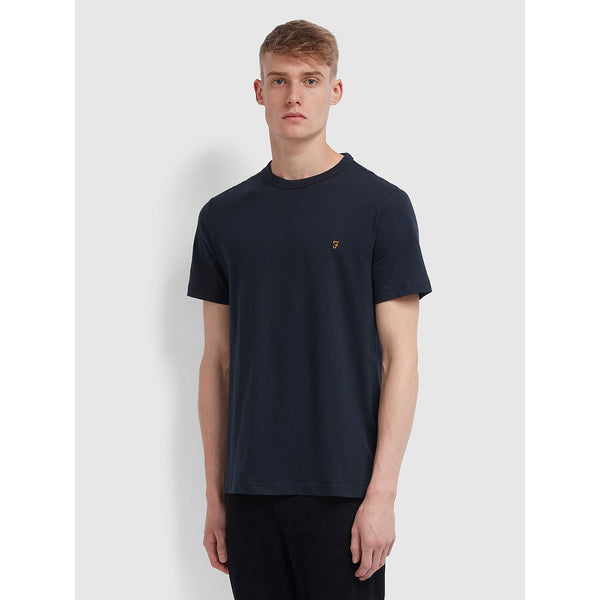 Farah Danny Slim Fit Organic Cotton T-Shirt True Navy