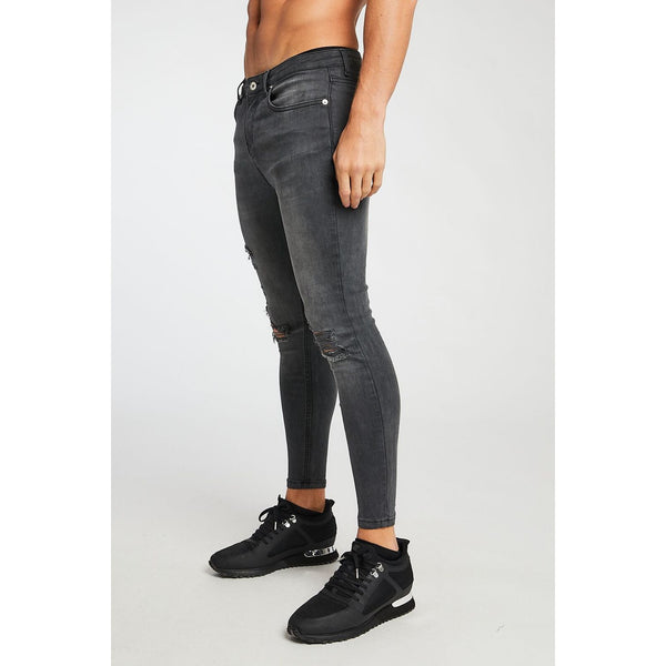 Pr� London Rip&Repair Grey Jeans at TailorOfBlue.ie
