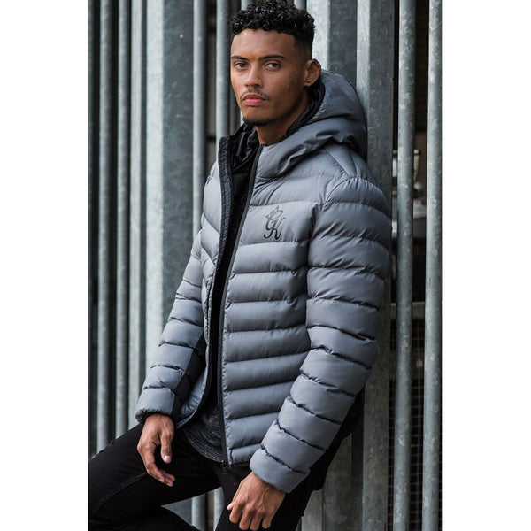 Gym King Core Puffer Jacket Steel Grey at TailorOfBlue.ie