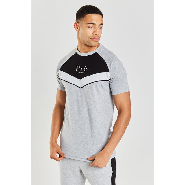 Pr� London Alvito T-Shirt Grey/Black/White at TailorOfBlue.ie