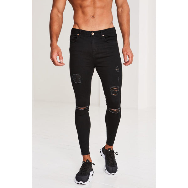 Pr� London Rip&Repair Black Jeans at TailorOfBlue.ie