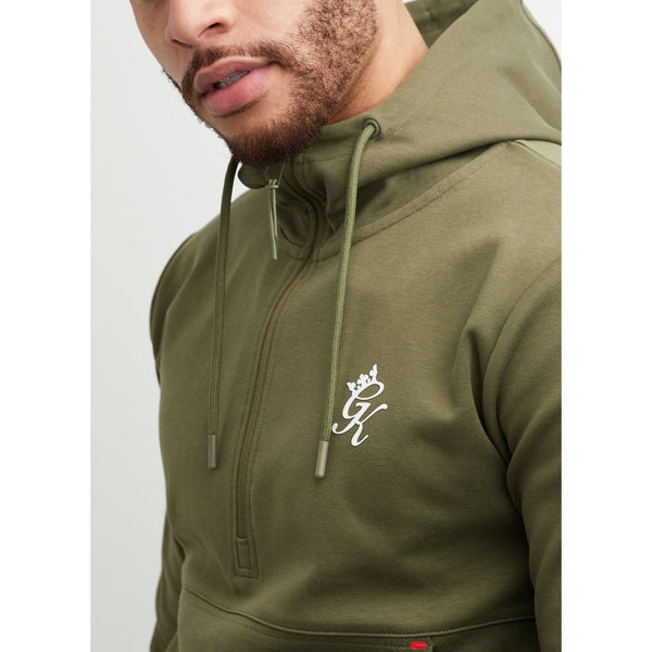 Gym King Utility 1/4 Zip Hood Khaki at TailorOfBlue.ie