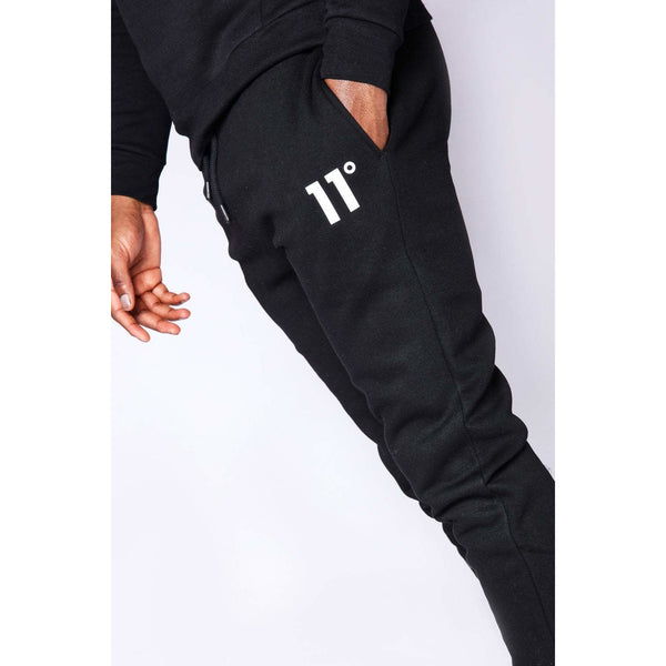 11 Degrees Core Regular Fit Joggers Black at TailorOfBlue.ie