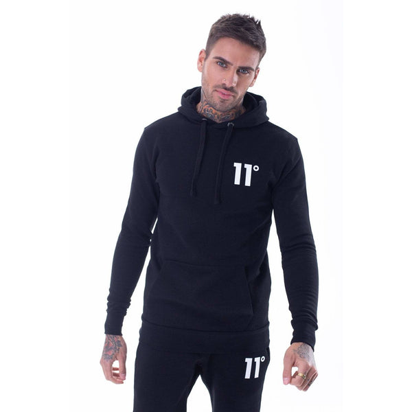 11 Degrees Core Hoodie Black at TailorOfBlue.ie