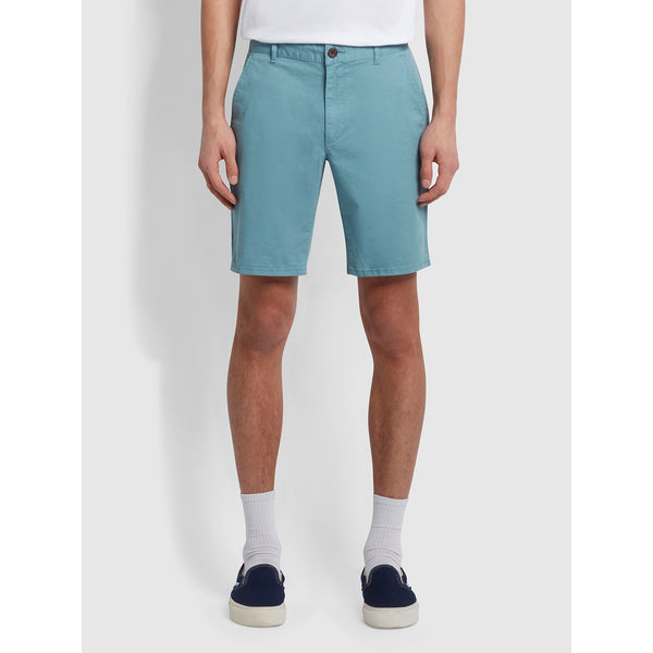 Farah Hawk Dyed Twill Chino Shorts Reef Green
