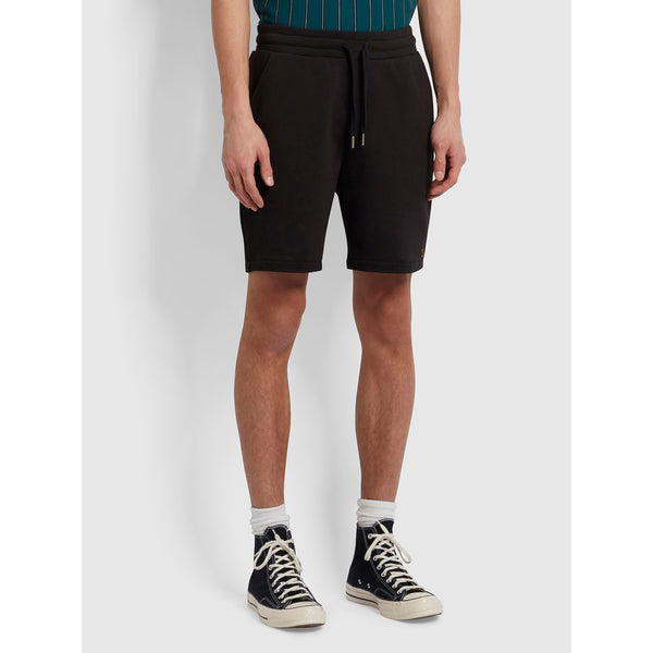 Farah Durrington Organic Cotton Jersey Shorts Black