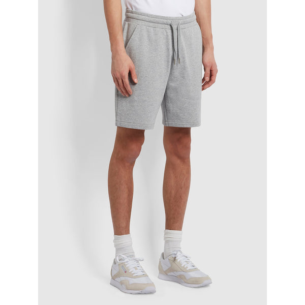 Farah Durrington Organic Cotton Jersey Shorts Light Grey Marl