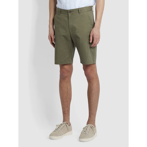 Farah Hawk Organic Cotton Chino Shorts Vintage Green