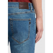 Farah Drake Denim Jeans Mid Worn Indigo at TailorOfBlue.ie