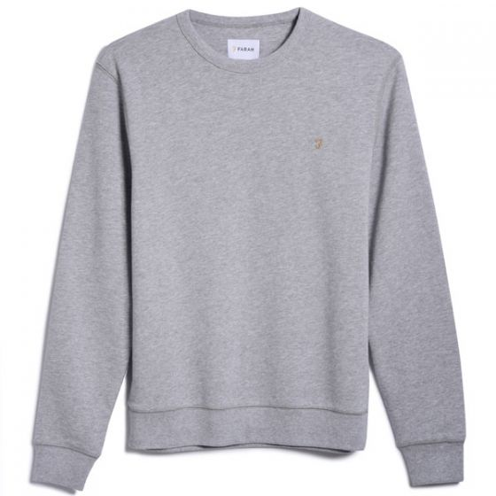 Farah Tim Crew Sweatshirt Grey Marl at TailorOfBlue.ie