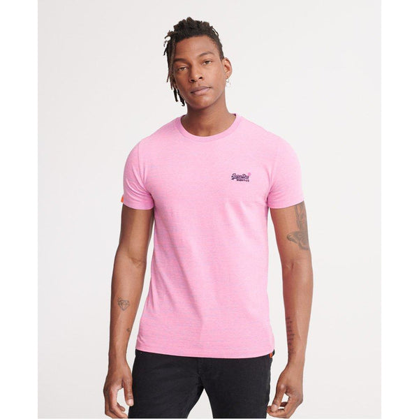 Superdry Vintage Embroidered T-Shirt Neon Pink Space Dye at TailorOfBlue.ie