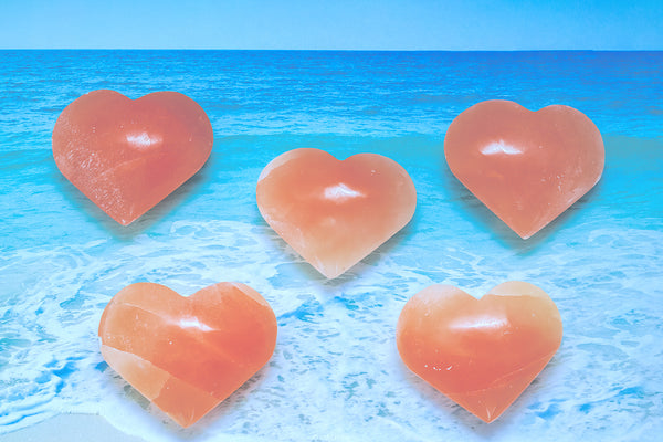 MOROCCAN SELENITE HEARTS - OA LIVING