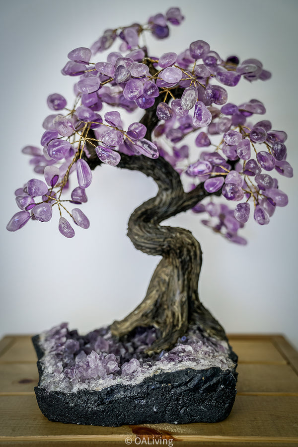 Handmade Amethyst Bonsai Tree - OA LIVING