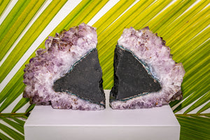 AMETHYST CLUSTER BOOKENDS - OA LIVING