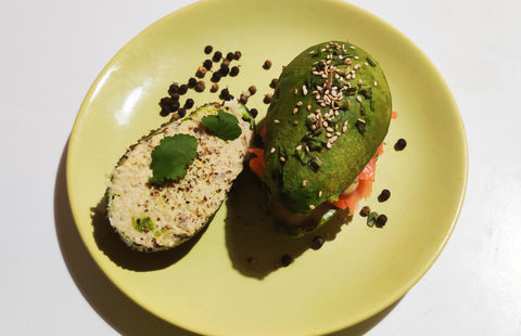 hamburger avocat saumon et mousse thon
